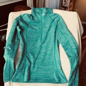 NWOT Under Armour Cold Gear Half Zip Top LARGE